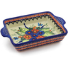 9-inch Stoneware Rectangular Baker with Handles - Polmedia Polish Pottery H4743K