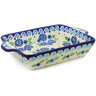 9-inch Stoneware Rectangular Baker with Handles - Polmedia Polish Pottery H6404J