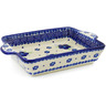 9-inch Stoneware Rectangular Baker with Handles - Polmedia Polish Pottery H6429J