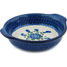 9-inch Stoneware Round Baker with Handles - Polmedia Polish Pottery H8157B