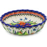 9-inch Stoneware Scalloped Bowl - Polmedia Polish Pottery H0363K