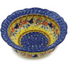 9-inch Stoneware Scalloped Bowl - Polmedia Polish Pottery H2679K