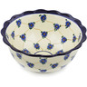 9-inch Stoneware Scalloped Bowl - Polmedia Polish Pottery H4412B
