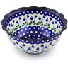 9-inch Stoneware Scalloped Bowl - Polmedia Polish Pottery H6743A