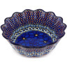9-inch Stoneware Scalloped Fluted Bowl - Polmedia Polish Pottery H4712G