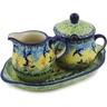 9-inch Stoneware Sugar and Creamer Set - Polmedia Polish Pottery H2233K