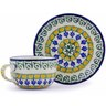 9 oz Stoneware Cup with Saucer - Polmedia Polish Pottery H0339B