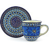 9 oz Stoneware Cup with Saucer - Polmedia Polish Pottery H6420G