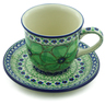 9 oz Stoneware Cup with Saucer - Polmedia Polish Pottery H9269I