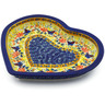 -inch Stoneware Heart Shaped Platter - Polmedia Polish Pottery H2195K