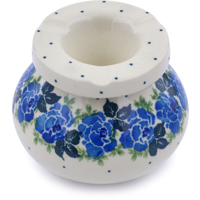 "Polish Pottery Ashtray 4"" Floral Spring"