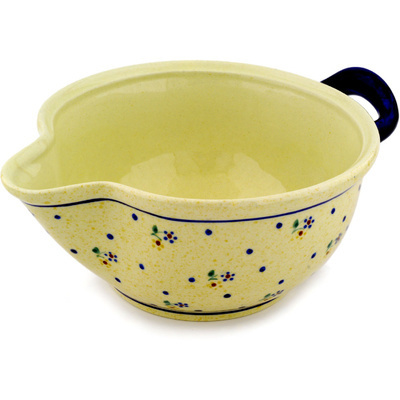 "Polish Pottery Batter Bowl 10"" Country Meadow"
