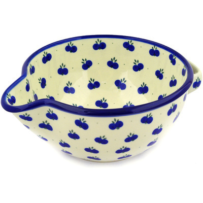 "Polish Pottery Batter Bowl 12"" Wild Blueberry"