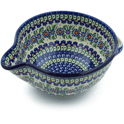 Polish Pottery Batter Bowl 7½-inch Aster Party UNIKAT