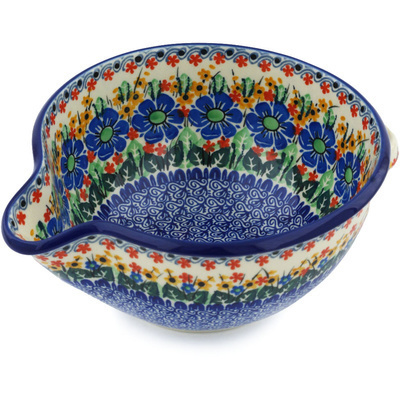 Polish Pottery Batter Bowl 7½-inch Garden Of Love UNIKAT