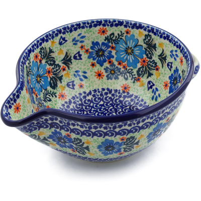 Polish Pottery Batter Bowl 7½-inch Spring Essence UNIKAT