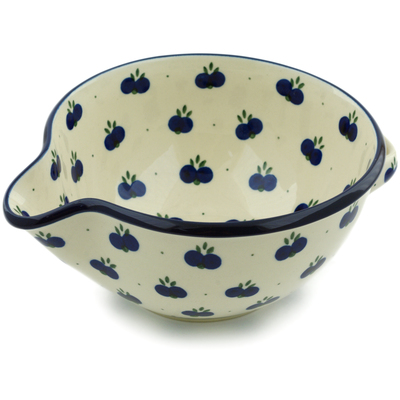 Polish Pottery Batter Bowl 7½-inch Wild Blueberry