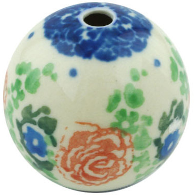 "Polish Pottery Bead 1"" Flower Passion"