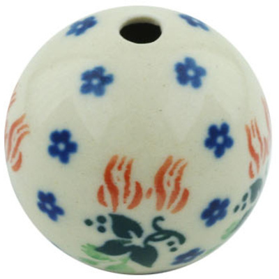 "Polish Pottery Bead 1"" Hanging Flowers"