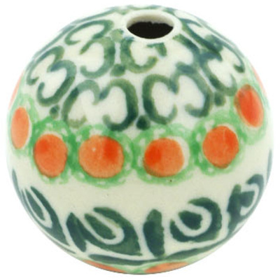 "Polish Pottery Bead 1"" Indian Trail"