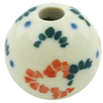 Polish Pottery Bead ¾-inch Floating Flowers