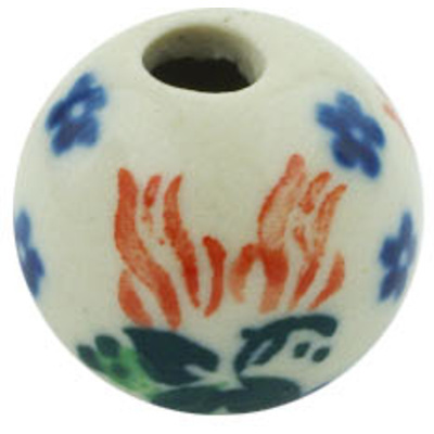 Polish Pottery Bead ¾-inch Hanging Flowers