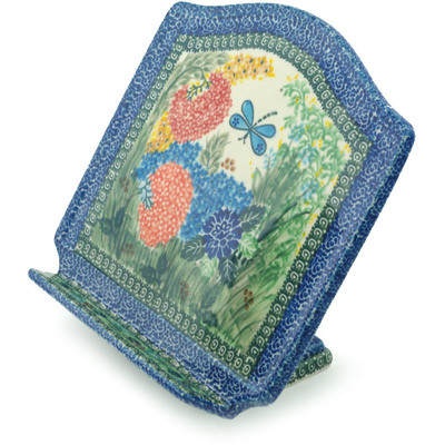 "Polish Pottery Book Stand 9"" Garden Delight UNIKAT"