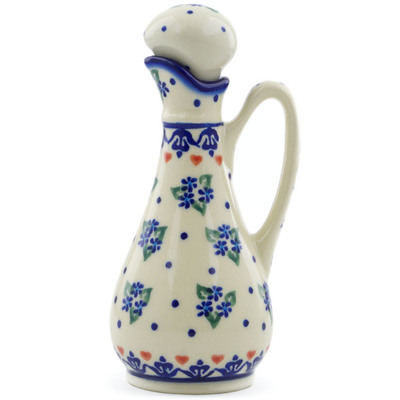 Polish Pottery Bottle 5 oz Daisy Dollops