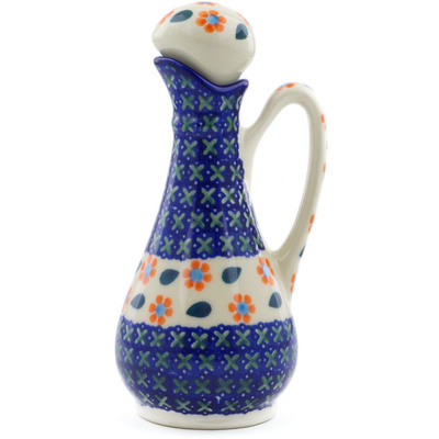 Polish Pottery Bottle 5 oz Daisy Stitches