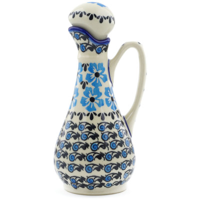 Polish Pottery Bottle 5 oz Pansy Plenty