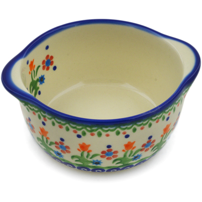 Polish Pottery Bouillon Cup 11 oz Spring Flowers