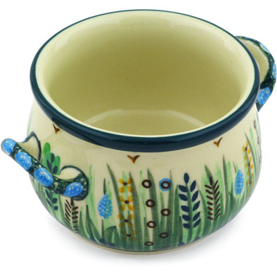 Polish Pottery Bouillon Cup 12 oz Prairie Land UNIKAT