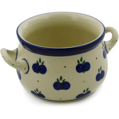 Polish Pottery Bouillon Cup 12 oz Wild Blueberry