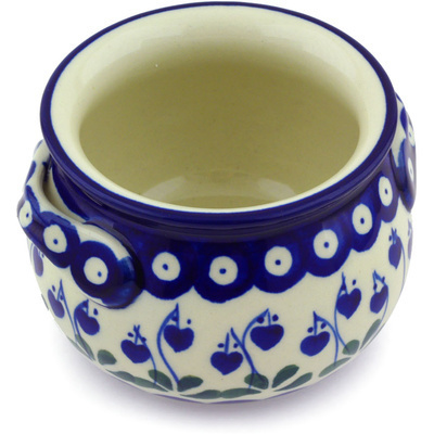 Polish Pottery Bouillon Cup 13 oz Bleeding Heart Peacock