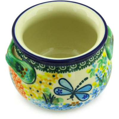Polish Pottery Bouillon Cup 13 oz Garden Delight UNIKAT