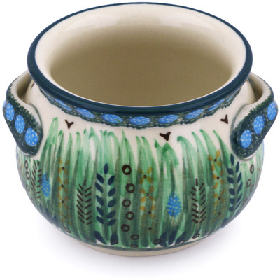 Polish Pottery Bouillon Cup 13 oz Prairie Land UNIKAT