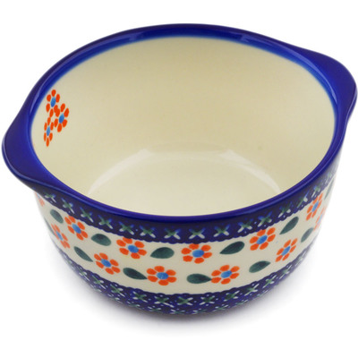 Polish Pottery Bouillon Cup 15 oz Daisy Stitches