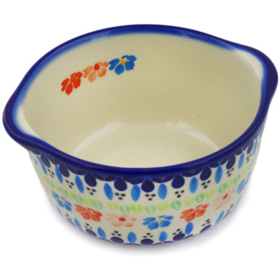 Polish Pottery Bouillon Cup 15 oz Spring Flowers
