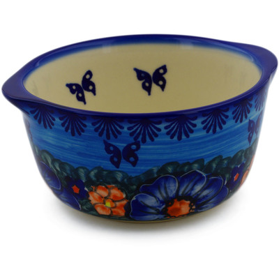 Polish Pottery Bouillon Cup 15 oz UNIKAT