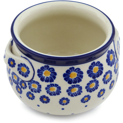 Polish Pottery Bouillon Cup 25 oz Wreath Of Blue