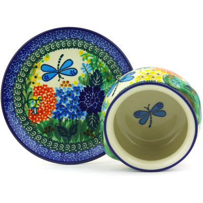 Polish Pottery Bouillon Cup with Saucer 16 oz Garden Delight UNIKAT