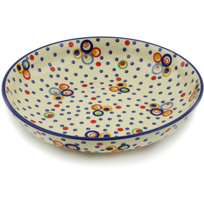 "Polish Pottery Bowl 12"" UNIKAT"