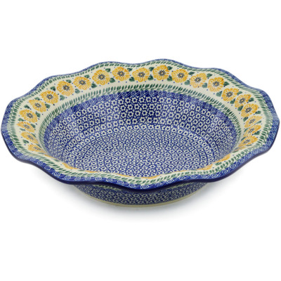 "Polish Pottery Bowl 13"" Marigold Morning"