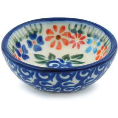 "Polish Pottery Bowl 3"" Blissful Daisy"