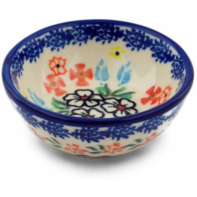 "Polish Pottery Bowl 3"" Fanciful Ladybug"