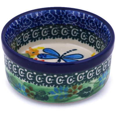 "Polish Pottery Bowl 3"" Garden Delight UNIKAT"