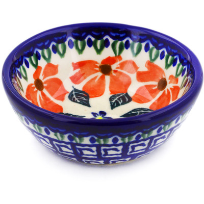 "Polish Pottery Bowl 3"" Grecian Fields"