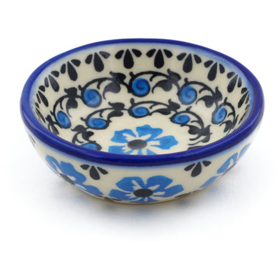 "Polish Pottery Bowl 3"" Pansy Plenty"