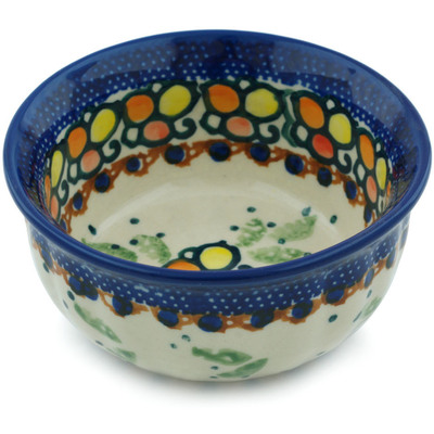 "Polish Pottery Bowl 4"" Color Melody UNIKAT"