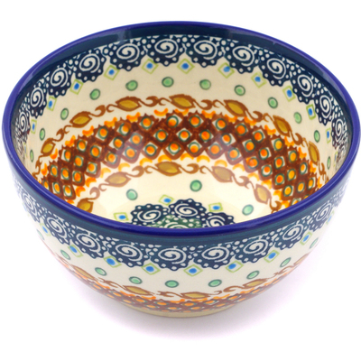 "Polish Pottery Bowl 5"" Artichoke Heart UNIKAT"